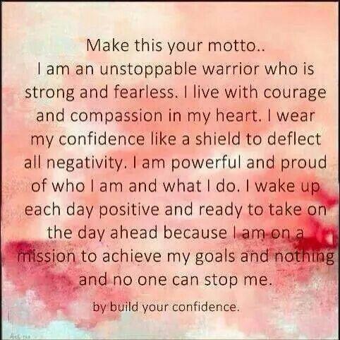 Confidence affirmation