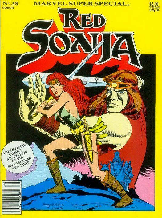 """""""Nel regno delle tenebre"""" (Red Sonja: The Movie, 1985) Cover di Mary Wilshire #Marvel #RedSonja #Fantasy #30AnniDiYado"""