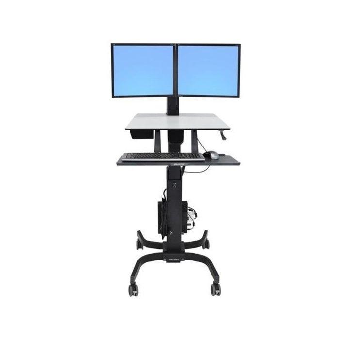 Ergotron WorkFit-C 24-214-085 Dual Sit-Stand Workstation 24214085