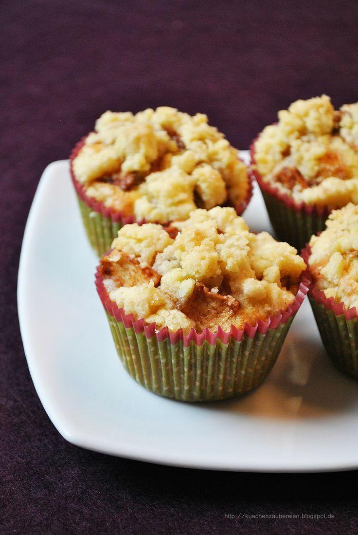 Winterliche Apfel-Streusel-Muffins mit Marzipan - Küchenzaubereien
