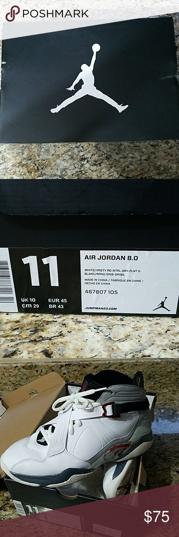 Air Jordan VIII shoes size 11 Only worn once! Great deal offers welcomed! Any questions leave a comment! Shoes in amazing condition! Jordan Shoes Sneakers