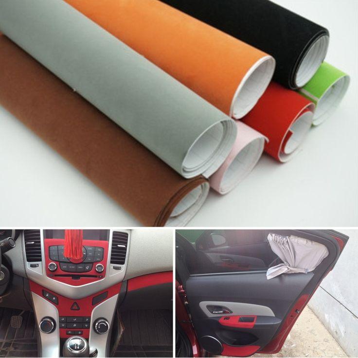 C pas cher 135 30 cm 8 couleurs de velours tissu for Tissu voiture interieur