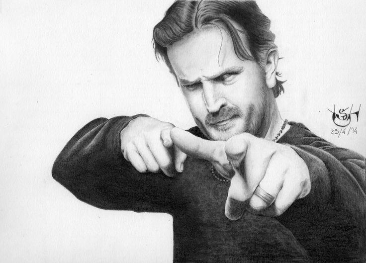 "Drawing actor Richard Speight Jr, star of TV Series ""Supernatural""."