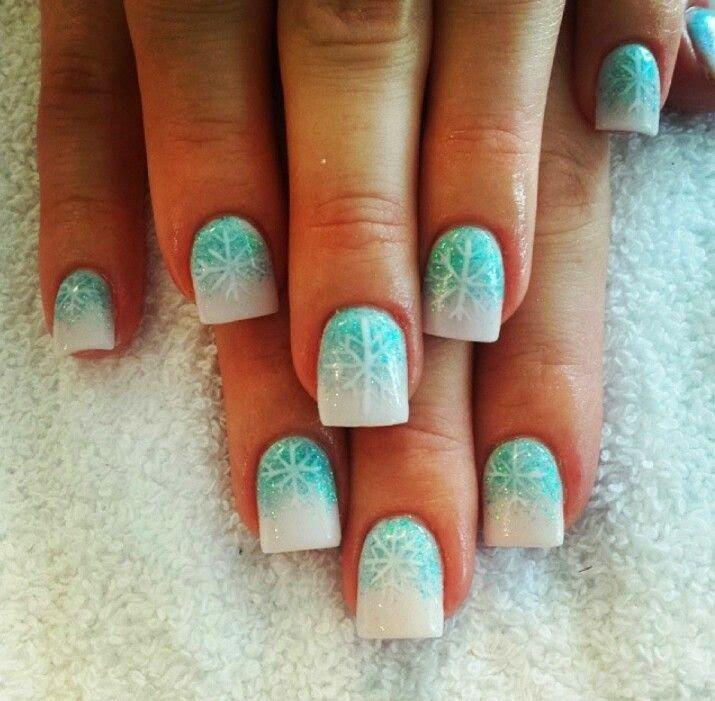 Digg Women's Fashion: Cute winter nails Snow nails