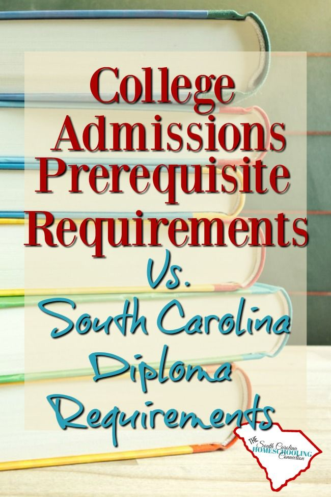 4 Year College Admissions Prerequisites in South Carolina. How do college admissions requirements differ from the SC diploma requirements?