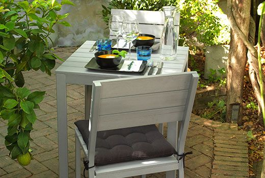 IKEA FALSTER Table+2 chairs, outdoor, grey € 175.00