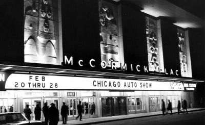 It's the last day of the Auto Show - brave the weather and check it out! The Chicago Auto Show, McCormick Place, 1965, Chicago. via chicagoautoshow.com