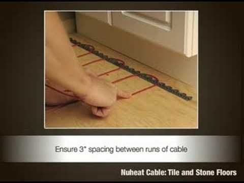 Nuheat Cable Installation Video