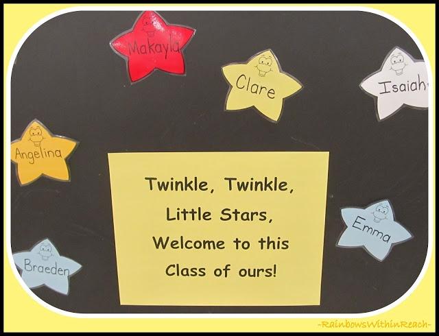 photo of: Back-to-School Bulletin Board: Twinkle, Twinkle Little Star Theme