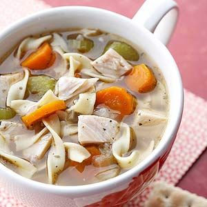 chicken noodle soup Easy feel better soup.