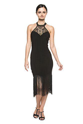 Dress for Women, Evening Cocktail Party On Sale, Black, Cotton, 2017, 10 8 Unconditional