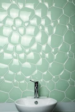 Glass Collection from Imperial Tile bathroom: looks like alligator skin on your walls