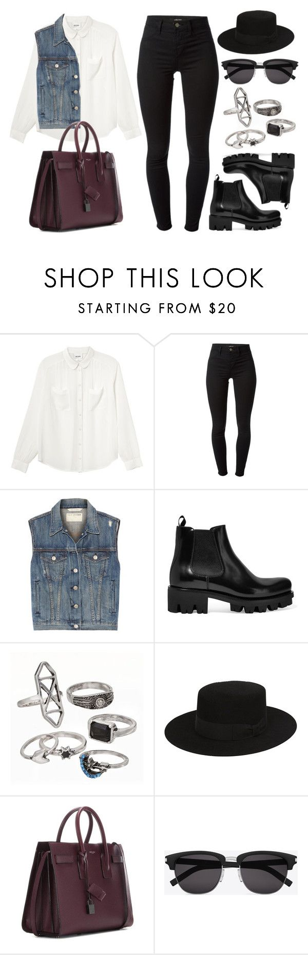 """Style #11074"" by vany-alvarado ❤ liked on Polyvore featuring Monki, J Brand, rag & bone, Prada, Mudd and Yves Saint Laurent"