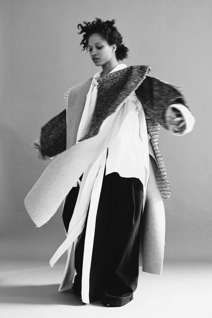 Conceptual Fashion - oversized coat with mixed layers & textures; sculptural fashion // Daniel Gregory Natale