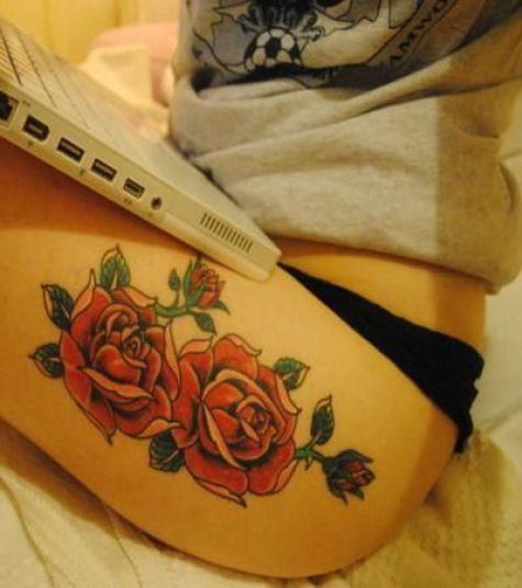 17 Best Ideas About Feminine Thigh Tattoos On Pinterest
