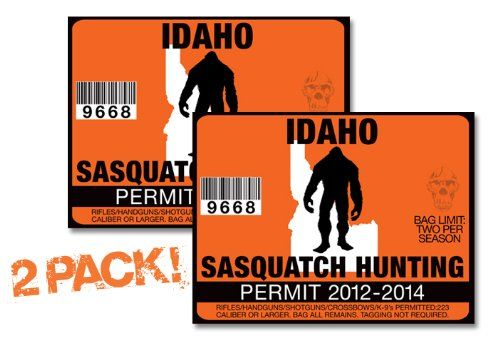 1000 images about bigfoot posters signs stickers on for Idaho fishing license