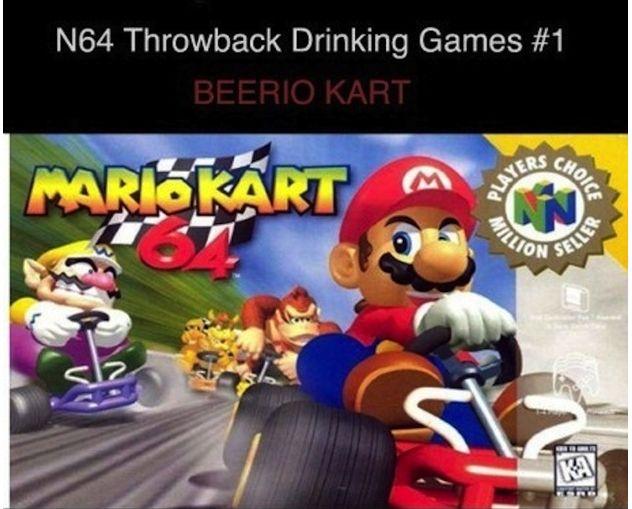 Mario 'Beerio' Kart Might Be The Greatest, Nerdiest Drinking Game Ever [Foodbeast]