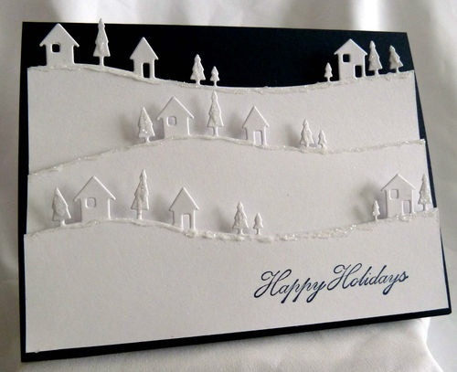 Stampin Up Handmade Country Landscape Christmas Card Card Kit | eBay