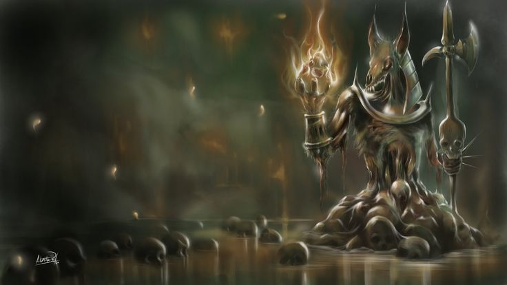 Anubis, un Dios putrefacto by aledtope1.deviantart.com on @DeviantArt