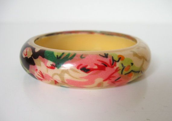 FRANSE VINTAGE ARMBAND / bloemen / rozen / bloem / door Loppislover