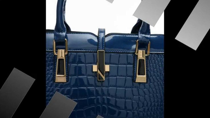 VK Designer - Gorgeous Croc Faux Leather High Gloss Finish Tote bag www....