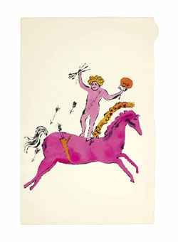 Cherub on Horseback /andy warhol