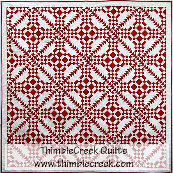 A red letter day quilt pattern thimblecreek quilt shop for Red door design quilts
