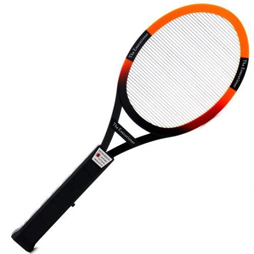 The Executioner Fly Swat Wasp Bug Mosquito Swatter Zapper by Sourcing4U Limited. $17.99. 1 Years Full Warranty, our racket is built to last!. Genuine branded ExecutionerTM  * Not a Cheap Copy *. Built to last, Made with ABS Plastic not brittle recycled plastic. Fully CE Approved and Trading Standards Passed. FREE Branded Alkaline Batteries. Simply press the button and swing, once the Fly, Wasp or Bug touches the screen it will be instantly Zapped unlike the 3 l...
