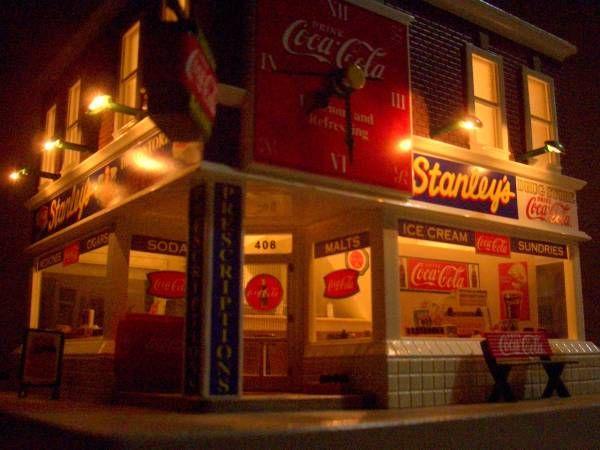 ★Coca‐Cola【コカ・コーラ】★1960年代のビンテージオールドストア★ノベルティグッズ&ディスプレイ★精密なジオラマ★クロック★激レア_画像1