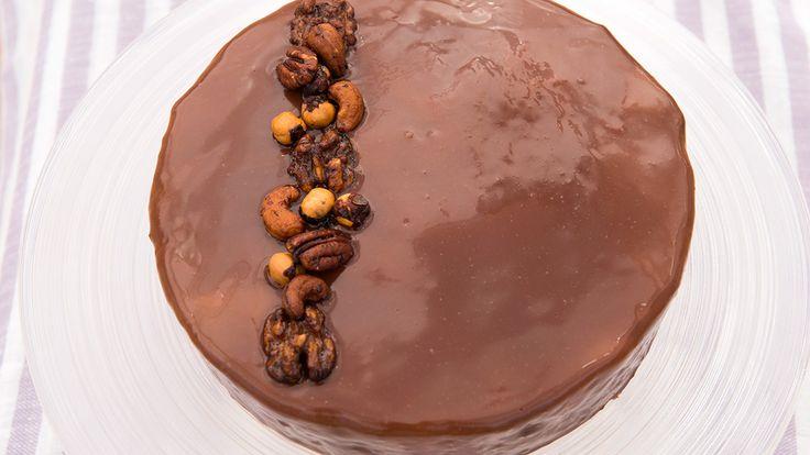 Annes karamell- og sjokolademoussekake