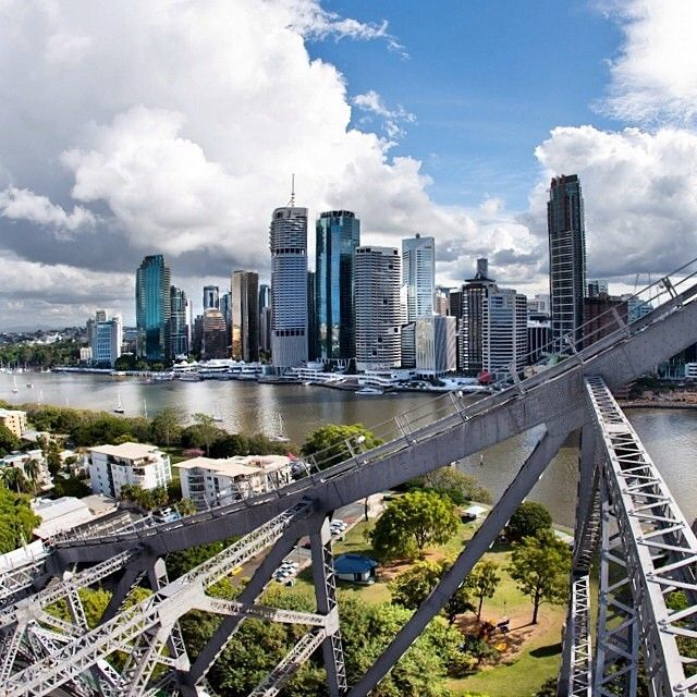 The view whilst partaking in the Story Bridge Climb  Image by @brisbanecity http://blog.queensland.com/2011/11/04/throwing-myself-off-a-bridge/ #thisisqueensland