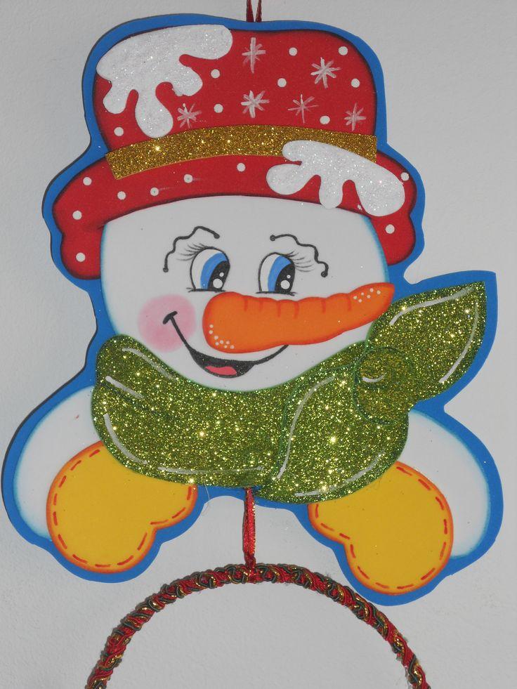 muñeco de nieve porta toalla