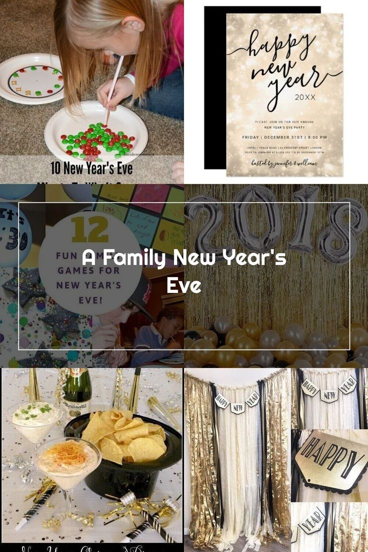 A Family New Year's Eve. Fun activities and party games to