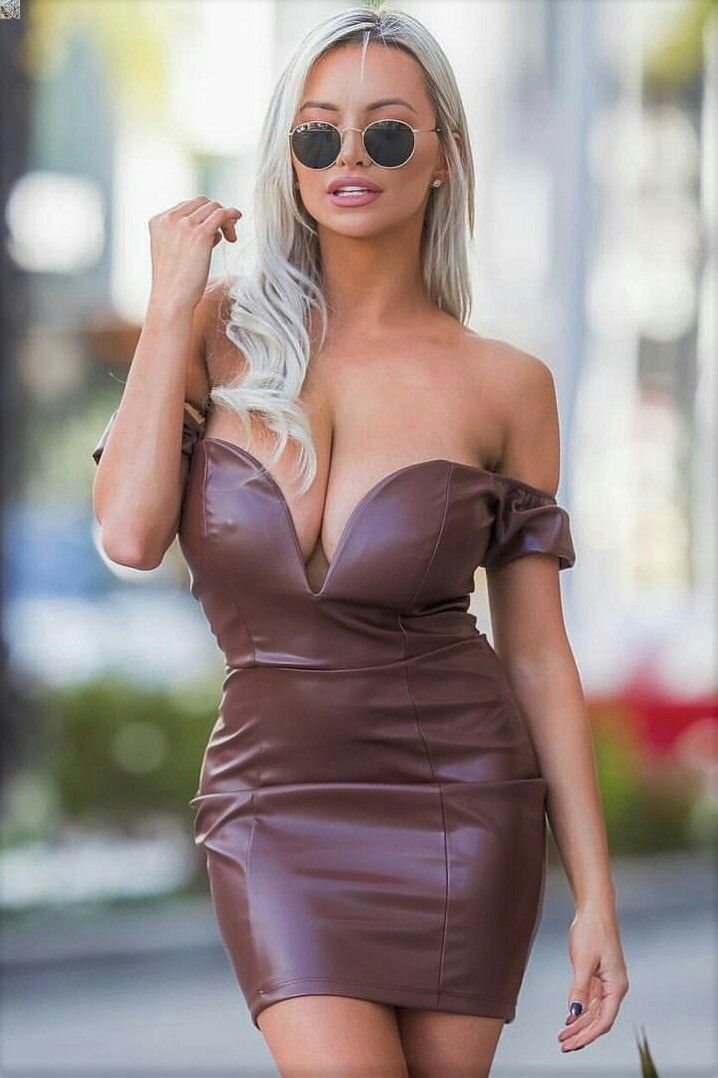 boobs in tight dress