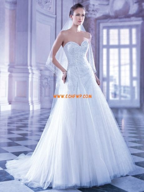 Corte Sirena Elegante Sin Mangas Vestidos de novias 2014