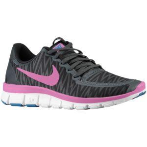 Nike Free 5.0 V4 - Women's - Black/Anthracite/White/Red Violet