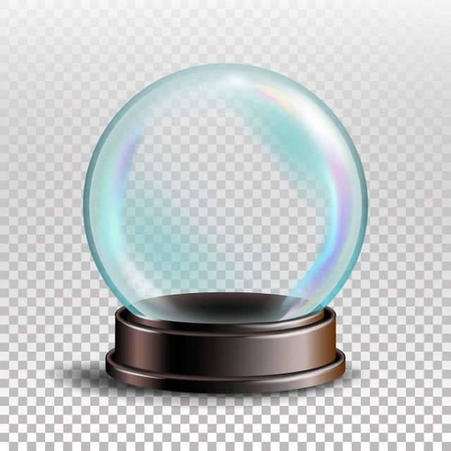 Snowglobe Vector Empty Snow Globe Xmas Design Element Transparency Souvenir Realistic Illustration Snow Globes Crystal Ball Digital Backdrops