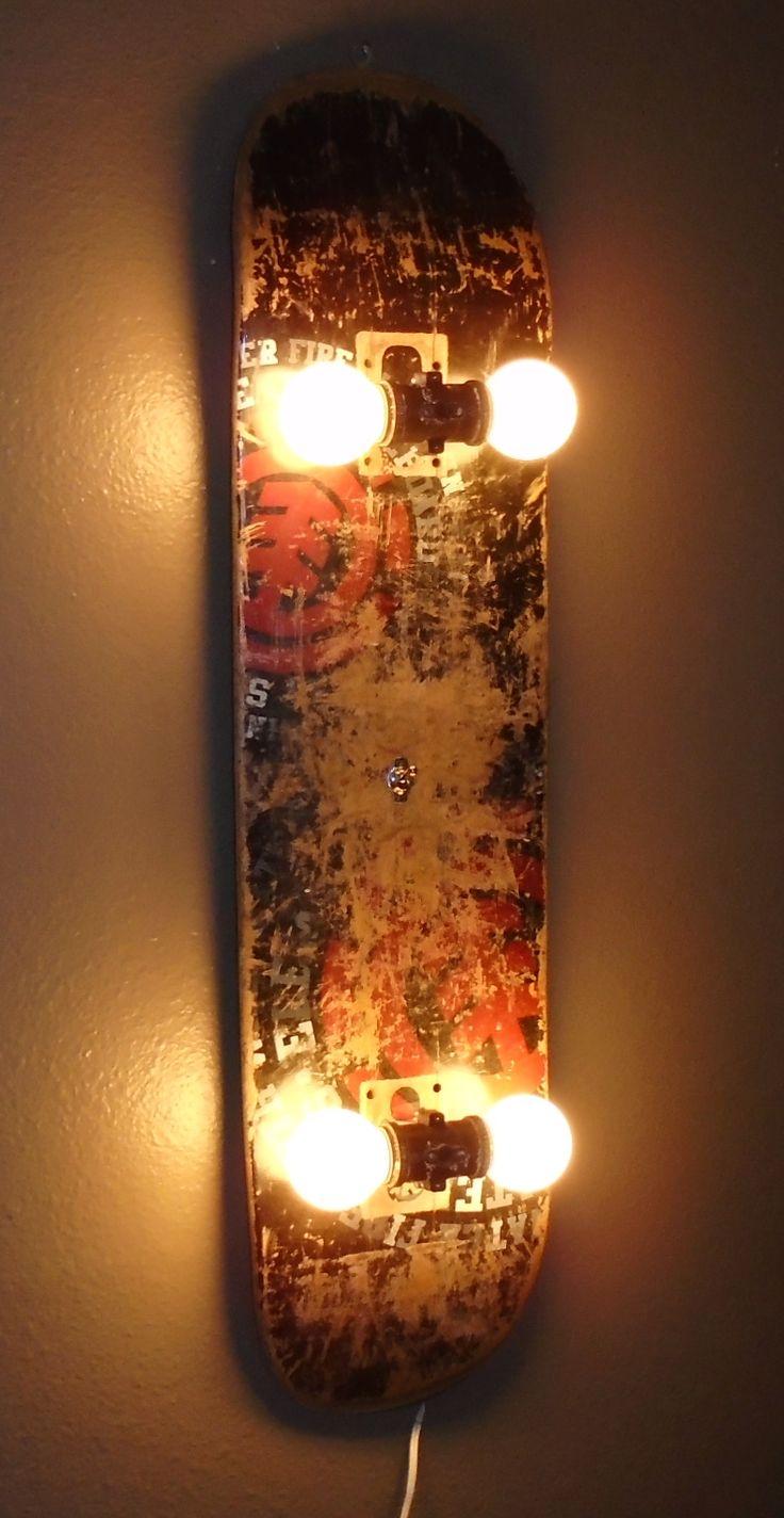 Skateboard Lamp Home Design