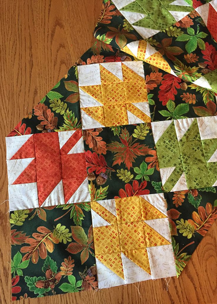 Sew A Thanksgiving Table Runner With Fall Leaf Quilt