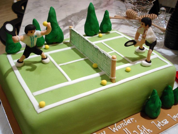 Cake Decorations Tennis : Best 25+ Tennis cake ideas on Pinterest Tennis cupcakes ...