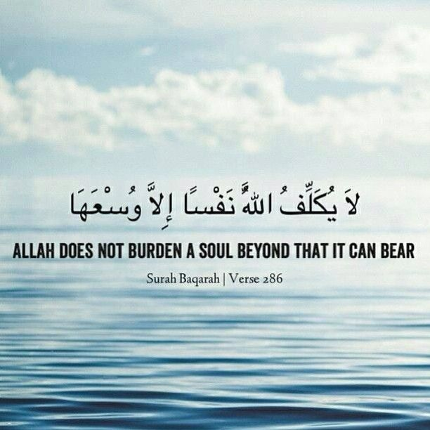 Allah does not burden a soul beyond that it can bear.