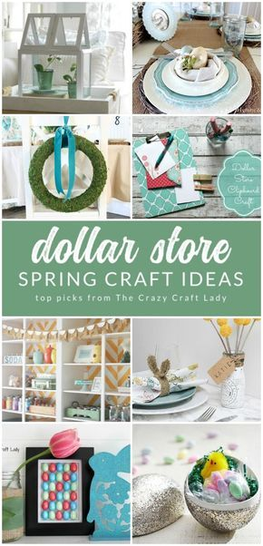 12 Beautiful Spring Dollar Store Crafts