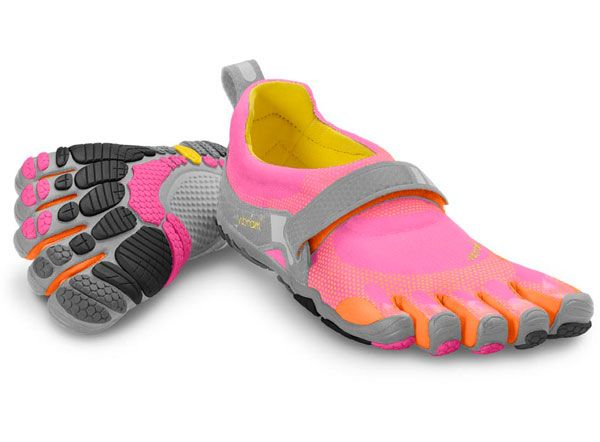one day I will gift these to myself. pink running shoes. Vibram five fingers