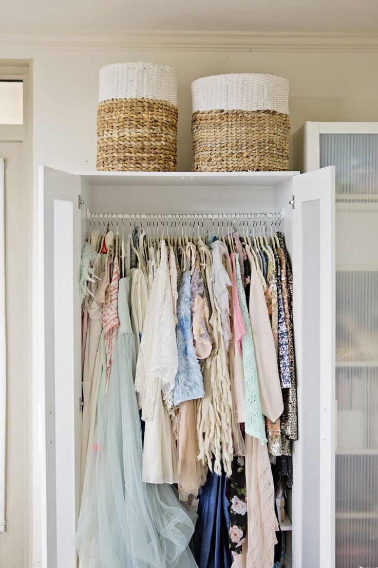 Love the wardrobe and BASKETS!