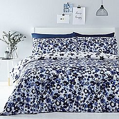 Image result for navy blue and mustard yellow bedding sets