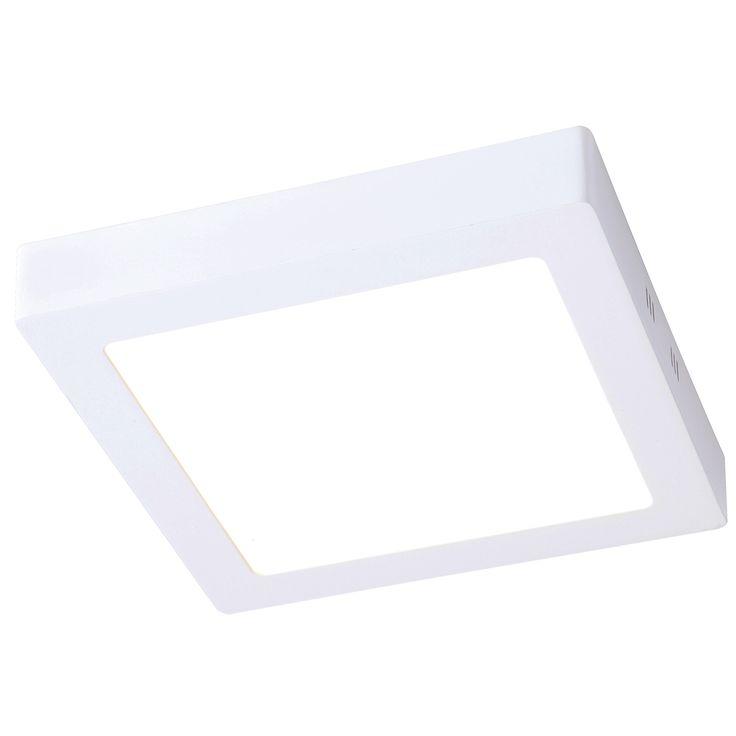 Plafón LED cuadrado 12W especial Baños #baño #lamparasbaño #iluminacion #decoracion #diseño