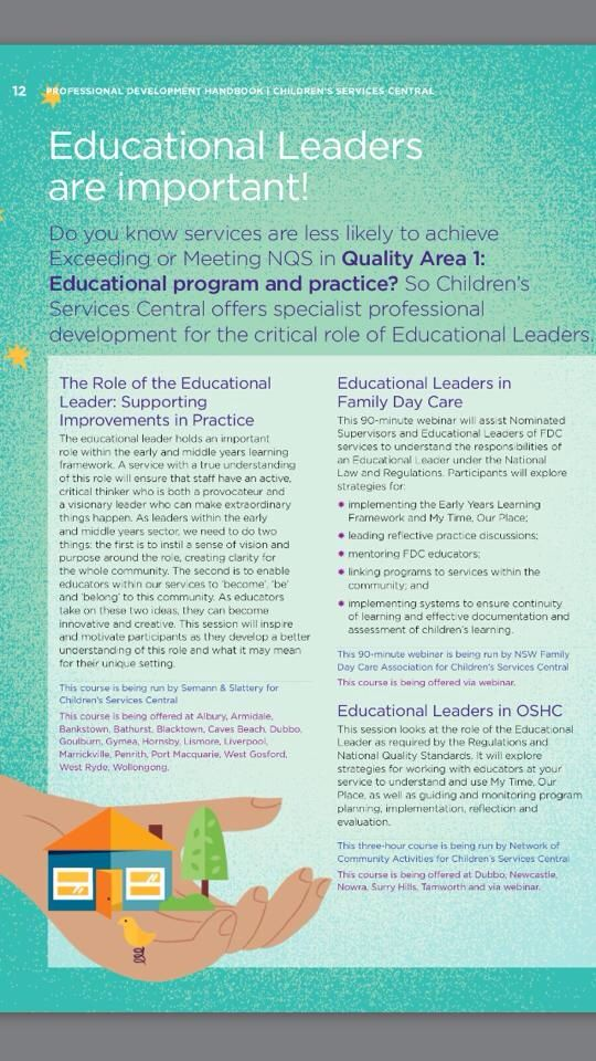 Educational leaders are important
