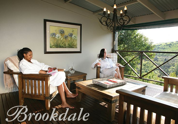 Relaxation deck at Brookdale Health Hydro