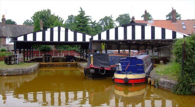 """""""...Worsley Dry Docks built in the 1760s. Most of the mine boats and some barges (""""Dukers"""") were built and repaired here. These dry docks are the oldest inland waterway dry docks in Britain and are Grade Two Listed Buildings..."""" ~ Worsley, Manchester, UK"""
