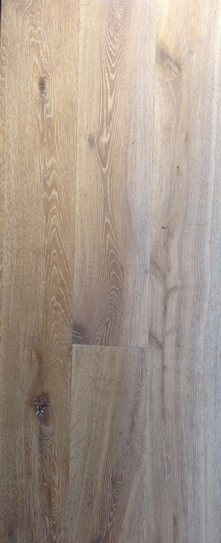 Flooring -- European white oak, wire brush scrubbed